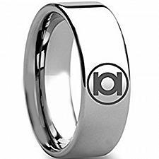 Buy coi Jewelry Tungsten Carbide Green Lantern Wedding Band Ring