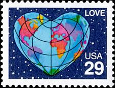 Buy 1991 29c Love, World Heart, Perf. Scott 2535 Mint F/VF NH
