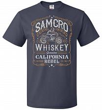 Buy Sons of Anarchy Samcro Whiskey Adult Unisex T-Shirt Pop Culture Graphic Tee (XL/J Nav