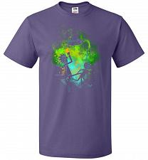 Buy Rick Morty Art Unisex T-Shirt Pop Culture Graphic Tee (3XL/Purple) Humor Funny Nerdy
