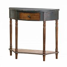 Buy *18394U - Wood Half-Moon 1 Drawer Accent Hall Table