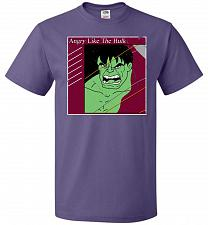 Buy Angry Like Hulk Unisex T-Shirt Pop Culture Graphic Tee (4XL/Purple) Humor Funny Nerdy