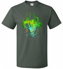 Buy Rick Morty Art Unisex T-Shirt Pop Culture Graphic Tee (M/Forest Green) Humor Funny Ne