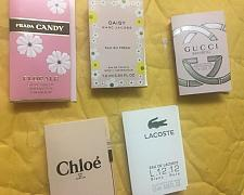 Buy Lot of 5 HighEnd Perfume travel sample LOT Prada Marc Jacobs Gucci Chloe Lacoste