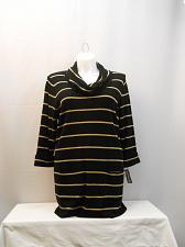 Buy Women Tunic Sweater INC Black Gold Striped Cowl Neck PLUS SIZE 2X