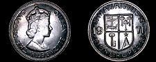 Buy 1971 Mauritius 1 Rupee World Coin - Elizabeth II