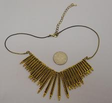 Buy Women Fashion Necklace Gold Spikes Lever Fastener FASHION JEWELRY