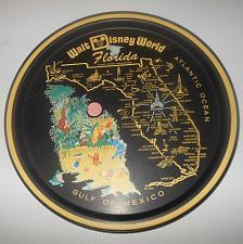 Buy Vintage Walt Disney World Florida Metalltablett Souvenir Rund Klassisches Dose