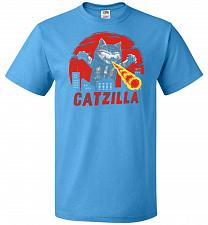 Buy Catzilla Unisex T-Shirt Pop Culture Graphic Tee (5XL/Pacific Blue) Humor Funny Nerdy