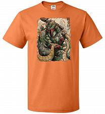 Buy Samurai Hunter Unisex T-Shirt Pop Culture Graphic Tee (4XL/Tennessee Orange) Humor Fu