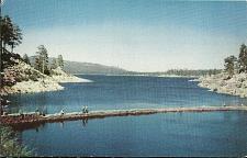Buy Big Bear Lake Fishing Hiking California Postcard