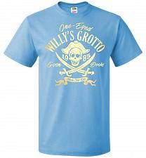Buy Goonies One-Eye Willy's Grotto Adult Unisex T-Shirt Pop Culture Graphic Tee (5XL/Aqua