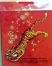 Buy Ed Hardy Embossed Note cards Tiger Flowers Hot Pink 8 Note Cards 8 Envelopes NIP