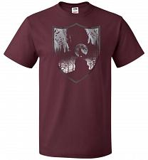 Buy Direwolves House Unisex T-Shirt Pop Culture Graphic Tee (S/Maroon) Humor Funny Nerdy