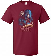 Buy Wizard Wars Unisex T-Shirt Pop Culture Graphic Tee (3XL/Cardinal) Humor Funny Nerdy G