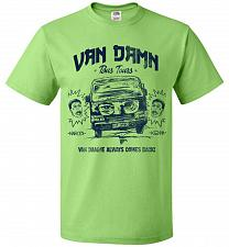 Buy Van Damn Tour Bus Adult Unisex T-Shirt Pop Culture Graphic Tee (XL/Kiwi) Humor Funny