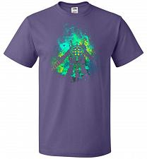Buy Raputure Art Unisex T-Shirt Pop Culture Graphic Tee (M/Purple) Humor Funny Nerdy Geek
