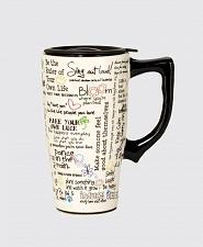 Buy :10486U - Positive Affirmations 16oz Ceramic Travel Mug