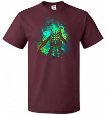 Buy Raputure Art Unisex T-Shirt Pop Culture Graphic Tee (L/Maroon) Humor Funny Nerdy Geek