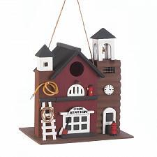 Buy *16851U - Fire Station Wood Birdhouse