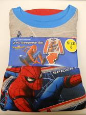 Buy Pajama Set SPIDER-MAN Boys 2 PC Size 8 Red Flannel Crew Neck Long Sleeves Sleepw
