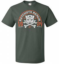 Buy Transformers Ratchet's Repair Adult Unisex T-Shirt Pop Culture Graphic Tee (M/Forest
