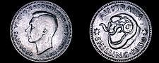 Buy 1939(m) Australian 1 Shilling World Silver Coin - Australia - Lot#9966-K