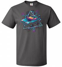 Buy Retro Wave Time Machine Unisex T-Shirt Pop Culture Graphic Tee (2XL/Charcoal Grey) Hu