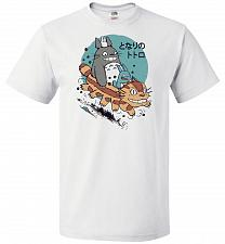 Buy The Neighbor's Antics Unisex T-Shirt Pop Culture Graphic Tee (M/White) Humor Funny Ne