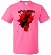 Buy A Nightmare On Maple Street Unisex T-Shirt Pop Culture Graphic Tee (S/Neon Pink) Humo