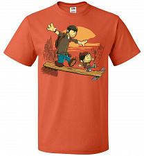 Buy Just the 2 of Us Unisex T-Shirt Pop Culture Graphic Tee (5XL/Burnt Orange) Humor Funn