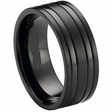Buy coi Jewelry Black Tungsten Carbide Ring - TG3416(Size US6.5/8)