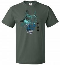 Buy Watercolor Totoro Unisex T-Shirt Pop Culture Graphic Tee (S/Forest Green) Humor Funny