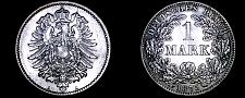 Buy 1875-A German Empire 1 Mark World Silver Coin - Germany