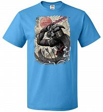 Buy Dark Samurai Unisex T-Shirt Pop Culture Graphic Tee (L/Pacific Blue) Humor Funny Nerd