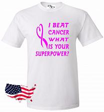 Buy I Beat Cancer What's Your Superpower T-shirt Breast Cancer Awareness