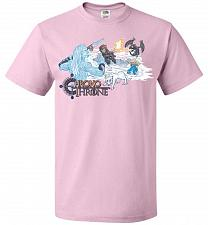 Buy Chrono Throne Unisex T-Shirt Pop Culture Graphic Tee (2XL/Classic Pink) Humor Funny N