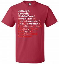 Buy Game Of Thrones Inspired Arya's List Adult Unisex T-Shirt Pop Culture Graphic Tee (L/