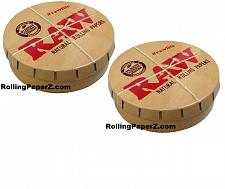Buy BUY TWO RAW Rolling papers Round Pop-Top Tobacco Smoking Accessories Storage Tin