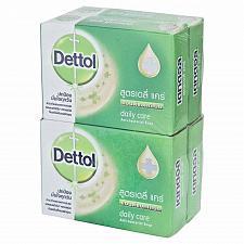 Buy Dettol Anti Bacterial Bar Soap Daily Care 65 gram bars (Pack of 4)