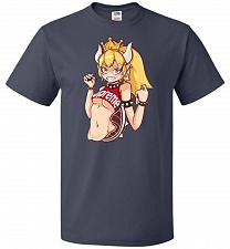Buy Bowsette Unisex T-Shirt Pop Culture Graphic Tee (4XL/J Navy) Humor Funny Nerdy Geeky