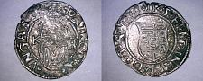 Buy 1545-KB Hungary 1 Denar World Silver Coin - Madonna with Child - Ferdinand I