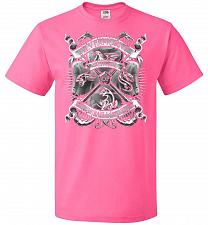 Buy Fantastic Crest Unisex T-Shirt Pop Culture Graphic Tee (3XL/Neon Pink) Humor Funny Ne