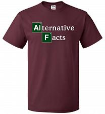 Buy Alternative Chemical Symbol Unisex T-Shirt Pop Culture Graphic Tee (2XL/Maroon) Humor