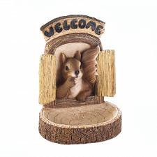 Buy *17754U - Welcome Brown Squirrel Wall Hanging Bird Feeder