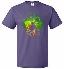 Buy Mandalore Art Unisex T-Shirt Pop Culture Graphic Tee (S/Purple) Humor Funny Nerdy Gee