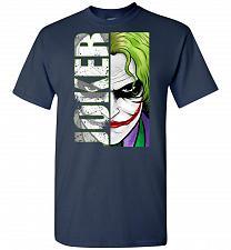 Buy Joker Unisex T-Shirt Pop Culture Graphic Tee (3XL/Navy) Humor Funny Nerdy Geeky Shirt
