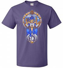 Buy Prince Of All Sayians Unisex T-Shirt Pop Culture Graphic Tee (2XL/Purple) Humor Funny