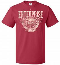 Buy Enterprise Unisex T-Shirt Pop Culture Graphic Tee (4XL/True Red) Humor Funny Nerdy Ge