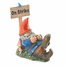 Buy 37095U - On Strike Gnome Figurine Stone/Resin Garden Statue Yard Art